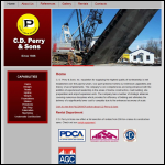 Screen shot of the Parry, W. & Sons website.