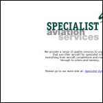 Screen shot of the Specialist Aviation Services Ltd website.