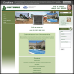 Screen shot of the Huntsmans Quarries Ltd website.