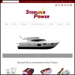 Screen shot of the Sterling Marine Power website.