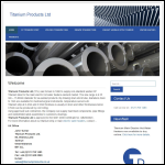 Screen shot of the Titanium Products Ltd website.