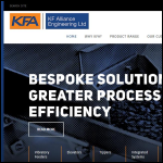 Screen shot of the KF Alliance Engineering Ltd website.