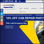 Screen shot of the Marubeni-Komatsu Ltd website.