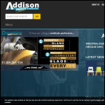 Screen shot of the Addison Saws Ltd website.