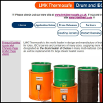 Screen shot of the LMK Thermosafe Ltd website.