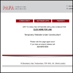 Screen shot of the PAFA Consulting Engineers website.