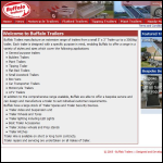 Screen shot of the Buffalo Trailers Systems website.
