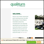 Screen shot of the Qualiturn Products Ltd website.