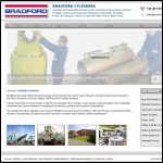 Screen shot of the Bradford Cylinders Ltd website.