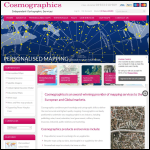 Screen shot of the Cosmographics website.