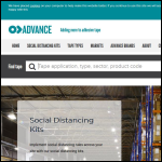 Screen shot of the Advance Tapes International Ltd website.
