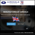 Screen shot of the Airedale Springs Ltd website.