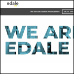 Screen shot of the Edale Ltd website.