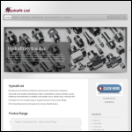 Screen shot of the Hydrafit Ltd website.