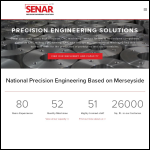 Screen shot of the Senar Precision Engineering Ltd website.