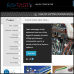 Screen shot of the IS-Rayfast Ltd website.