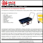 Screen shot of the Ace Equipment website.