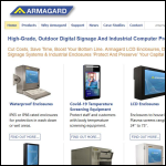 Screen shot of the Armagard Ltd website.