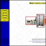 Screen shot of the Ocean Technical Systems Ltd website.