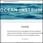 Screen shot of the Ocean Instruments Ltd website.