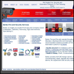 Screen shot of the Bartec Fire and Security Services website.