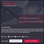 Screen shot of the Kloeckner Metals UK website.
