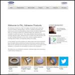 Screen shot of the PAL Adhesive Products Ltd website.