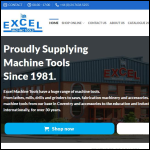 Screen shot of the Excel Machine Tools Ltd website.