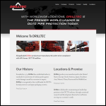 Screen shot of the Drilltec International Ltd website.
