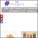 Screen shot of the 1st-Packaging website.