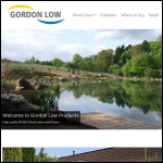 Screen shot of the Gordon Low Products Ltd website.