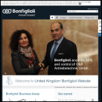 Screen shot of the Bonfiglioli UK Ltd website.