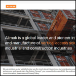 Screen shot of the Alimak Group UK Ltd website.