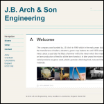 Screen shot of the J B Arch & Sons website.