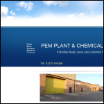 Screen shot of the PEM Plant & Chemicals International Ltd website.