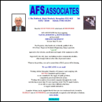 Screen shot of the AFS Associates website.