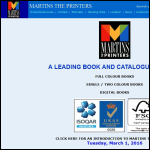 Screen shot of the Martins the Printers Ltd website.