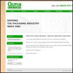 Screen shot of the Quma Systems Ltd website.