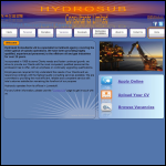 Screen shot of the HydroSub Ltd website.