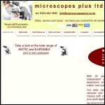 Screen shot of the Microscopes Plus Ltd website.