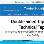 Screen shot of the Technibond Ltd website.