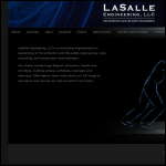 Screen shot of the Lasalle Engineering Ltd website.