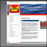 Screen shot of the Lebus International Engineers Ltd website.