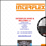 Screen shot of the Interflex Hose & Bellows Ltd website.