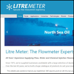 Screen shot of the Litre Meter Ltd website.