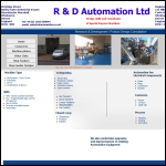 Screen shot of the R & D Automation Ltd website.