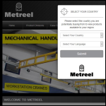 Screen shot of the Metreel Ltd website.