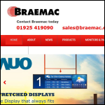 Screen shot of the Braemac Ltd website.