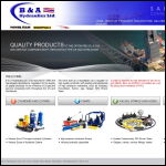 Screen shot of the B & A Hydraulics Ltd website.