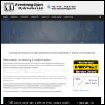 Screen shot of the Armstrong Lyon Hydraulics Ltd website.